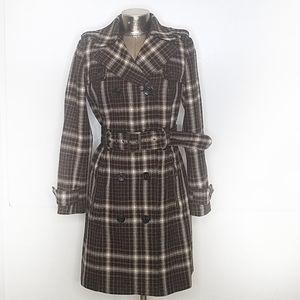 Zara Basic Plaid Wool Coat